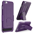 i-Blason Apple iPhone Plus 5.5in. Case - Transformer Series Slim Hard Shell Holster Combo - Purple