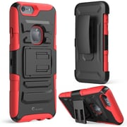 "i-Blason Apple iPhone 6 Plus and iPhone 6S Plus 5.5"" Case - Prime Series Dual Layer Holster Case - Red"