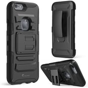 "i-Blason Apple iPhone 6 and 6s 4.7"" Case - Prime Series Dual Layer Holster Case - Black"