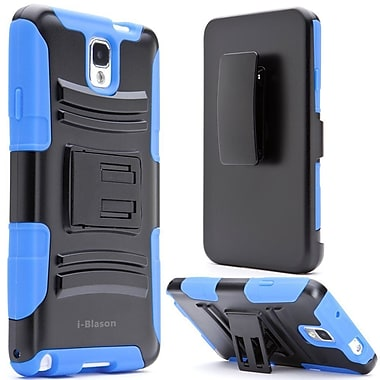 i-Blason Samsung Galaxy Note 4 Case - Prime Series Dual Layer Holster Case - Blue