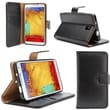 i-Blason Samsung Galaxy Note 4 Case - Slim Leather Book Wallet Cover - Black