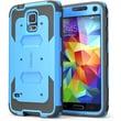 i-Blason Samsung Galaxy Note 4 Case - Armorbox Series Full Protection Case  - Blue