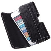 "i-Blason Apple iPhone 6 4.7"" Case - Magnetic Closure Leather Belt Holster - Black"