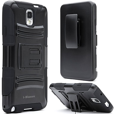 i-Blason Samsung Galaxy Note 4 Case - Prime Series Dual Layer Holster Case - Black