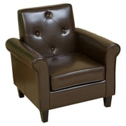 Home Loft Concept Marshall Tufted Club Chair; Chocolate Brown