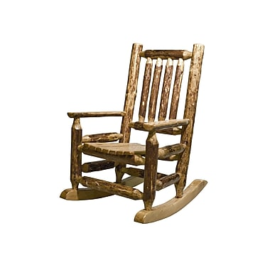 Montana Woodworks Glacier Country Log Child's Rocking Chair