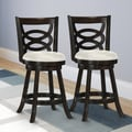 CorLiving Woodgrove 24''  Wood Swivel Bar Stool with Cushion (Set of 2)