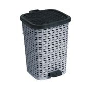 Superior Performance 3.1 Gallon Step-On Plastic Trash Can; Grey and Black