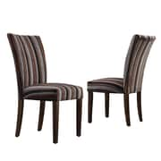 Kingstown Home Wingston Parsons Chair (Set of 2); Fabric - Dark Tonal Stripe