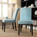 Kingstown Home Marsello Parson Chair (Set of 2); Sky Blue