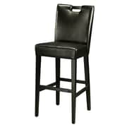 Pastel Furniture Epiphany 26'' Bar Stool with Cushion; Black