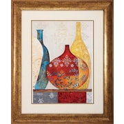 Propac Images Jars Framed Wall Art in Red and Yellow