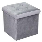 Home Basics Ottoman w/ Stones; Grey