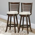 CorLiving Woodgrove 29''  Wood Swivel Bar Stool with Cushion (Set of 2)