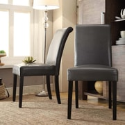 Kingstown Home Marsello Parson Chair (Set of 2); Grey