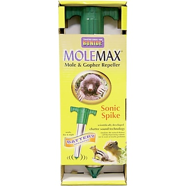 Bonide 61118 Battery Operated MoleMax Sonic Spike Mole Repellent Stake