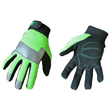 Cat Gloves CAT012214L Green Synthetic, Large