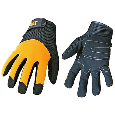 Cat Gloves CAT012215L Yellow Synthetic, Large