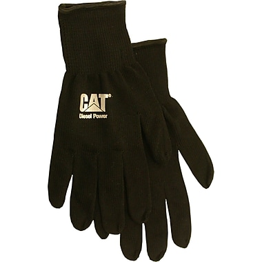 Cat Gloves CAT017407L Black String Knit, Large