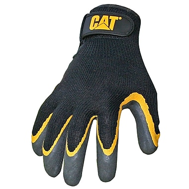 Cat Gloves CAT017415M Gray Poly/Cotton, Medium
