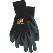 Cat Gloves CAT017400L Black Poly/Cotton, Large