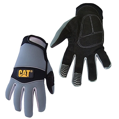 Cat Gloves CAT012213L Gray Neoprene, Large