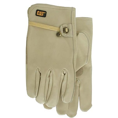 Cat Gloves CAT012110L Gray Leather, Large