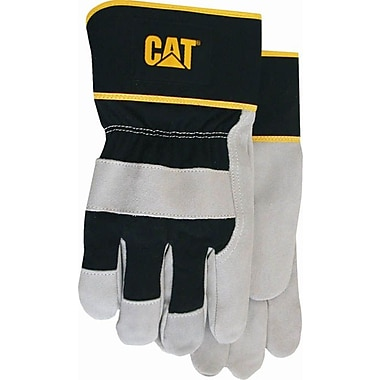 Cat Gloves CAT013201L Gray Leather, Large