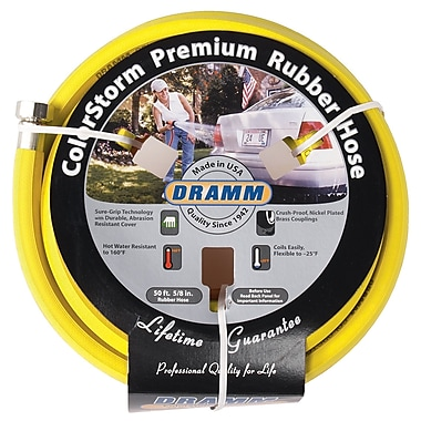 Dramm 10-17003 ColorStorm Premium Rubber Hose, Yellow