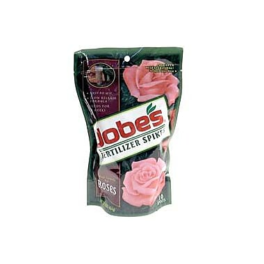 Jobes 4102 Granular Rose Outdoor Fertilizer Food Spikes, 10 Pack