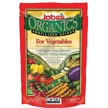 Jobes 06028 Organics Vegetable Fertilizer Spikes