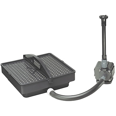 Danner/Pondmaster 02215 500 GPH Pond Pump with Filter and Fountain Set