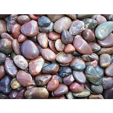 Exotic Pebbles & Aggregates PRS-1030 5 lbs. Polished Pebbles, Red
