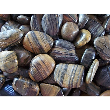 Exotic Pebbles & Aggregates PSS-1030 5 lbs. Polished Pebbles, Stripe