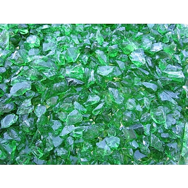Exotic Pebbles & Aggregates EG02-L11S 2 lbs. Glass Pebbles, Green