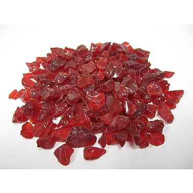 Exotic Pebbles & Aggregates EG02-L10S 2 lbs. Glass Pebbles, Red
