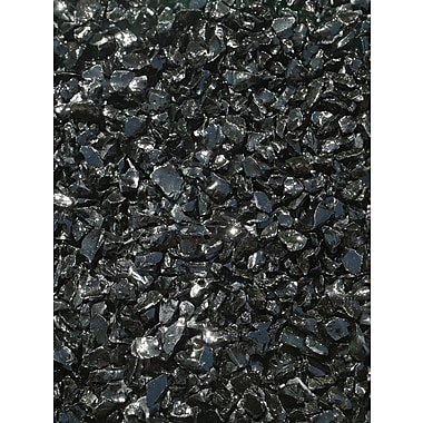 Exotic Pebbles & Aggregates EG10-L02 10 lbs. Glass Pebbles, Black