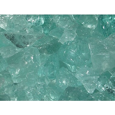 Exotic Pebbles & Aggregates EG10-L07 10 lbs. Glass Pebbles, Aqua