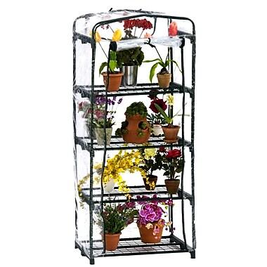 Flowerhouse FHPT400CL 5'H x 2'W x 1.5'L 4 Shelf Plant Tower