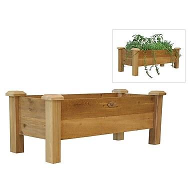 Gronomics RPB 18-48 Rustic Planter Box, Brown