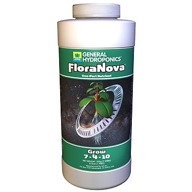 General Hydroponics GH1621 Flora Nova Grow Liquid Plant Food, 1 Pint