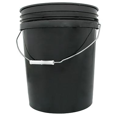 Hydrofarm HG5G Black Bucket, 5 gal.