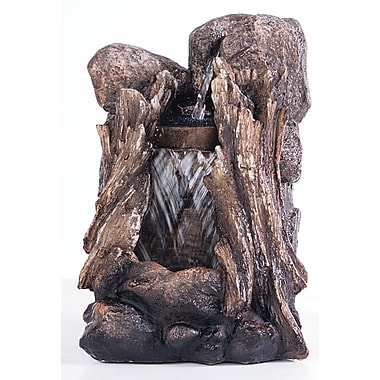 Kelkay Usa Llc F4632L Mini Resin-Stone Stump Cascade Fountain