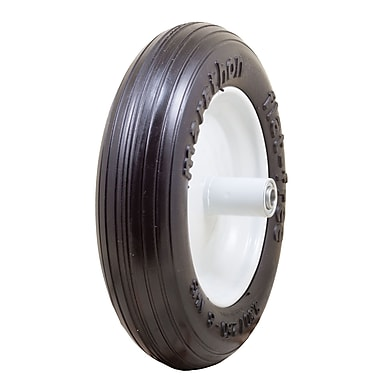 Marathon Industries 00003 Ribbed Flat Free Wheelbarrow Tire, 13