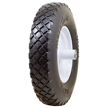 Marathon Industries 00047 Knobby Flat Free Wheelbarrow Tire, 16