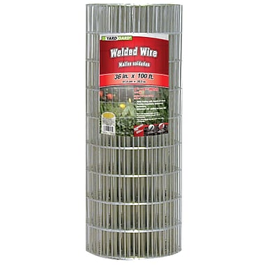 Midwest Air Technologies 308311B Galvanized Welded Mesh Fence, 36