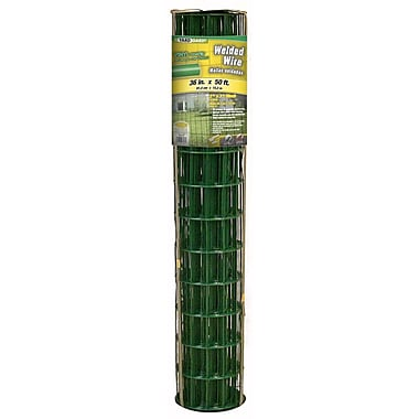 Midwest Air Technologies 308351B Plastic Coated Lawn & Home Welded Fence, 36