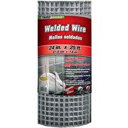 """Midwest Air Technologies 309312A 1"""" Mesh Galvanized Welded Mesh Fence, 24"""" x 25'"""