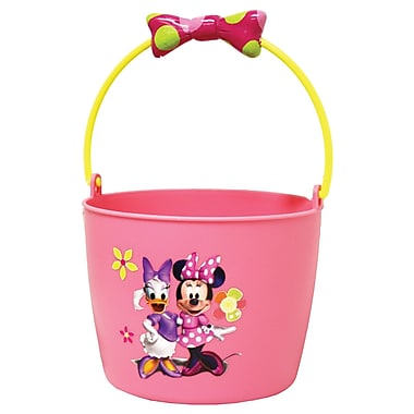 Midwest Quality Glove MM8K Kids Plastic Gardening Bucket, Minnie Mouse
