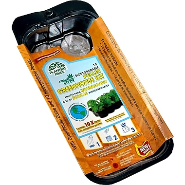 Planters Pride RZG00100 10 Grow Pellets Greenhouse Kit, Brown